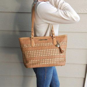 Brahmin Tan Nantucket Medium Asher Tote